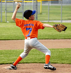 Youth baseball, ptiching and foot pain