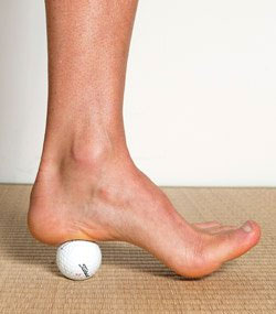 Rolling Golf Ball Heel Pain and Plantar Fasciitis